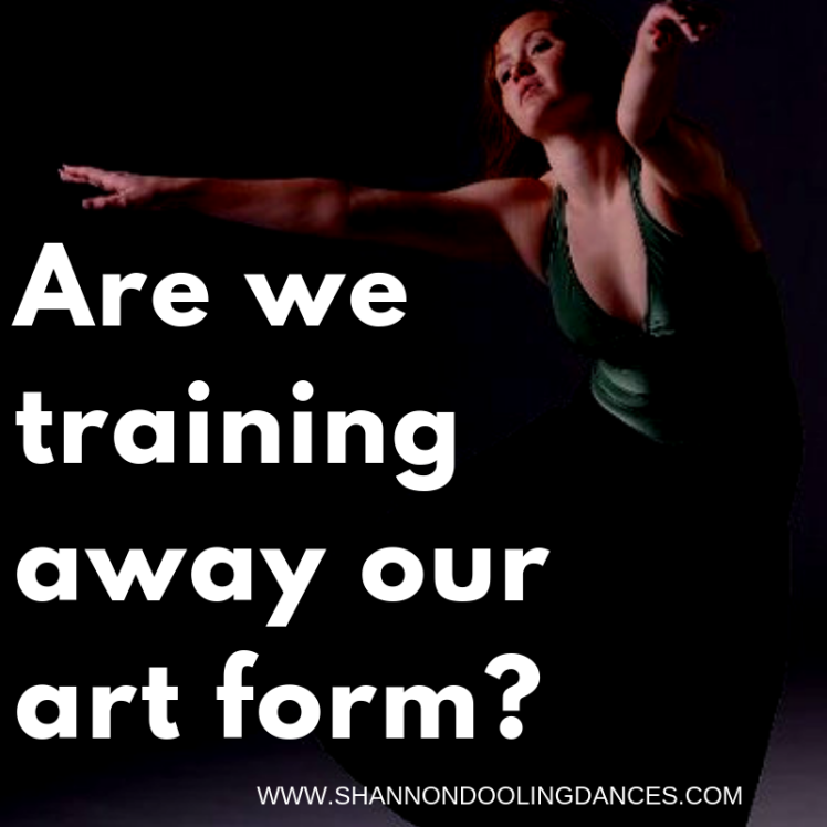 Are we training away our art form?-3