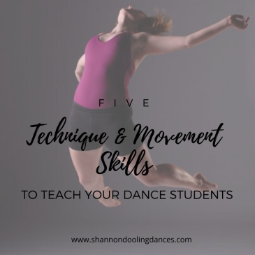 dance technique exercises