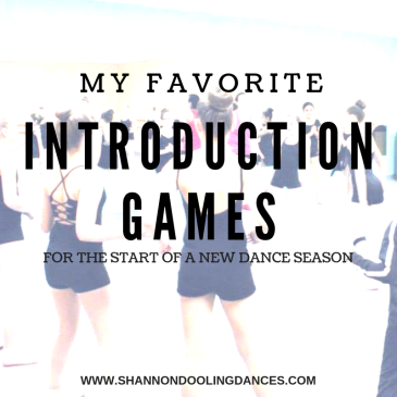 Get to know you games for dance classes Introduction Games for Dance classes Games for dance classes