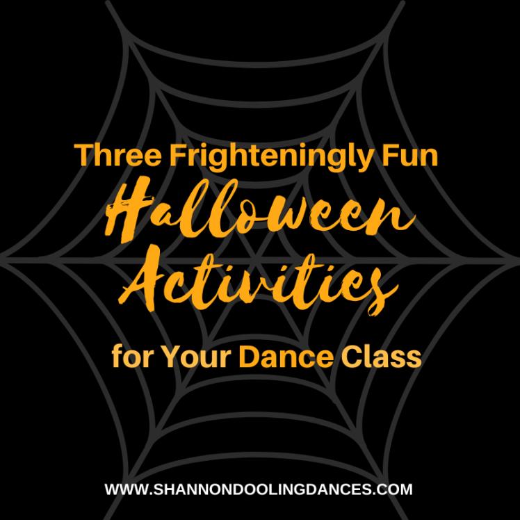 Halloween Dance Class Activities