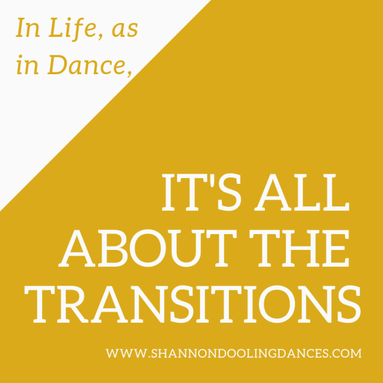 it's all about the transitions