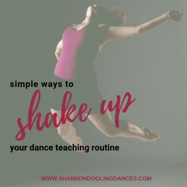 dance lesson ideas