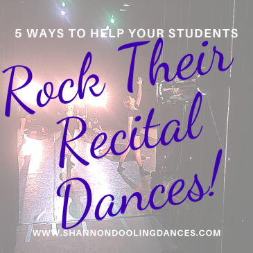 Create great recital dances and help students perform them well!