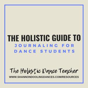 dance journal