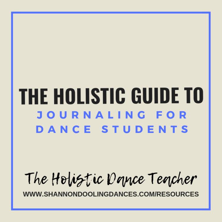 Dance Journal Ideas