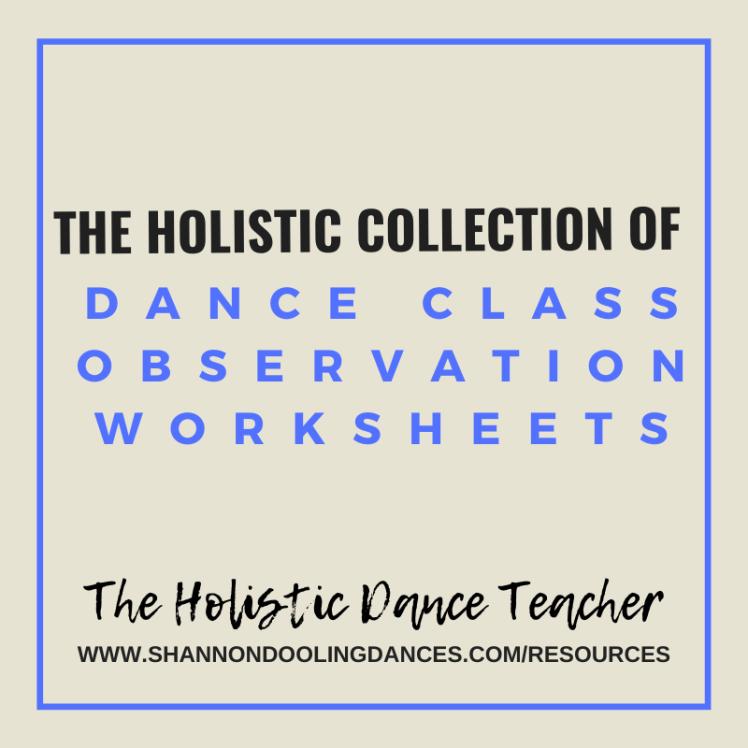 Dance Class Worksheets