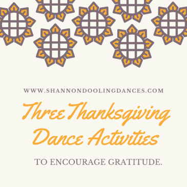 Thanksgiving Dance Lesson Plans