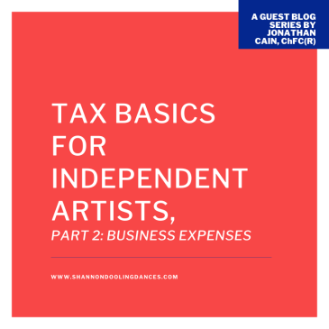 Taxes business expenses dancers dance teachers