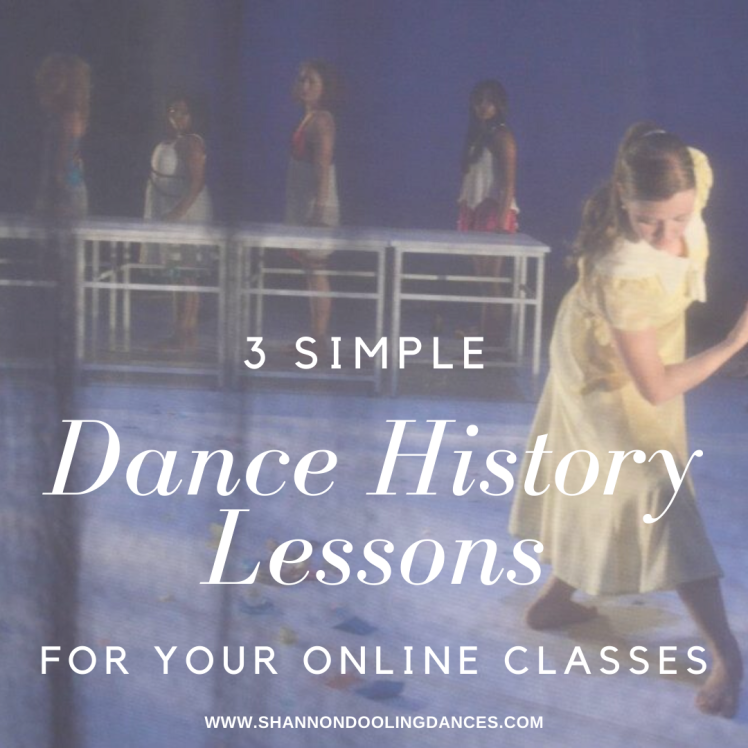simple dance history lessons